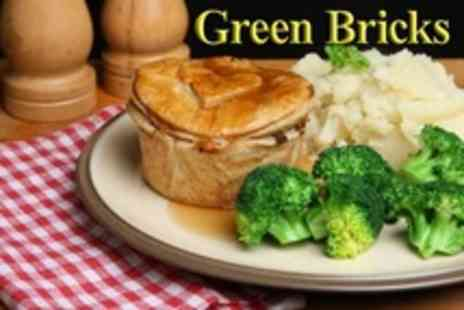 Green Bricks - Homemade Pie Supper For Two - Save 50%