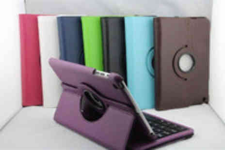 Gal Cochrane - Luxurious Leather 360 Degrees Rotating iPad Case and Stand with Keyboard - Save 53%