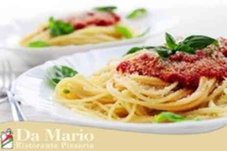 Da Mario - Pizza or Pasta With Wine For Two - Save 62%