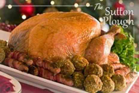 The Sutton Plough - Two Course Christmas Meal For Two - Save 57%