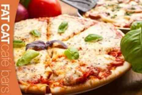 FAT CAT - Pizzas and Cocktails For Two - Save 59%