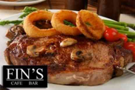 Fins Bar - Two Course Meal For Two - Save 51%