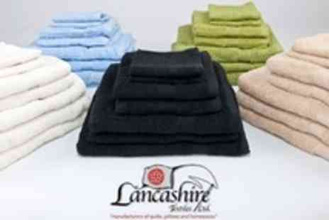 Lancashire Textiles - Egyptian Cotton Towel Bales in Seven Piece Set in Choice of Colours - Save 60%