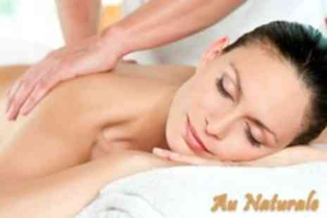Au Naturale - Deep Tissue Massage or Acupuncture - Save 60%