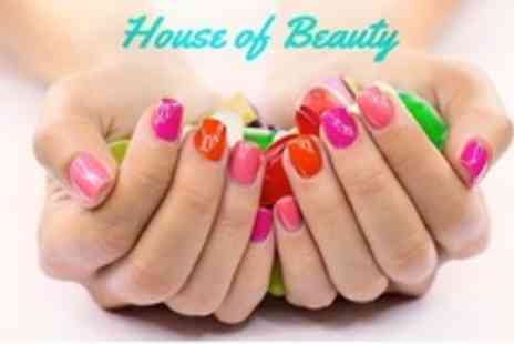 House of Beauty - Shellac or Nazila Love Glamour Manicure or Pedicure - Save 60%