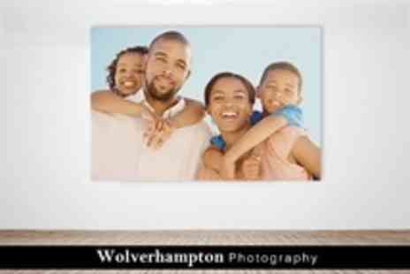 Wolverhampton Photography - Personalised Photo Canvas - Save 64%