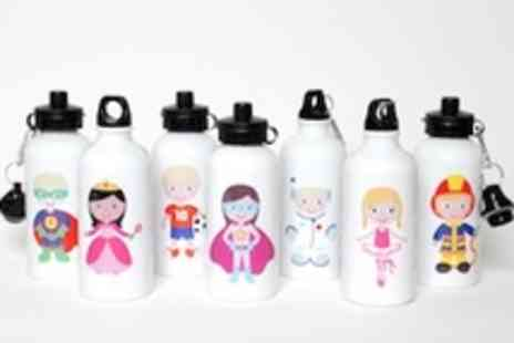 Polka Dot Plates - Two personalised kids water bottles ideal gift - Save 50%