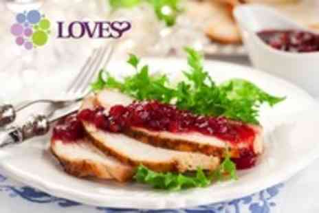 Loves Weston - Two Course Festive Lunch For Two With Glass of Wine Each - Save 34%