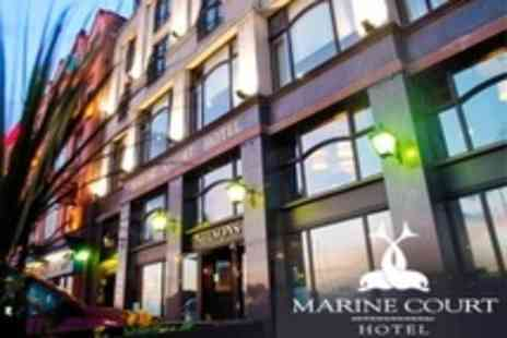 Marine Court Hotel - One Night Stay For Two With Wine, Breakfast and Health Club Access - Save 58%