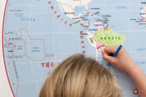 Maps International - Doodle World Map with Crayons - Save 60%