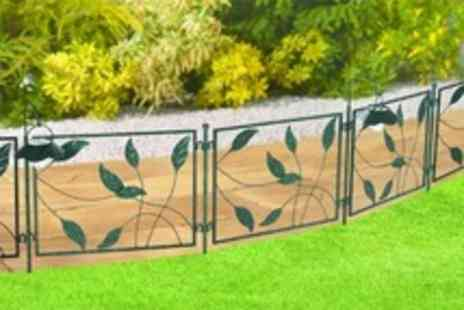 Good Ideas - Solar Powered Light Up Garden Fence One, Two or Four Sets - Save 50%