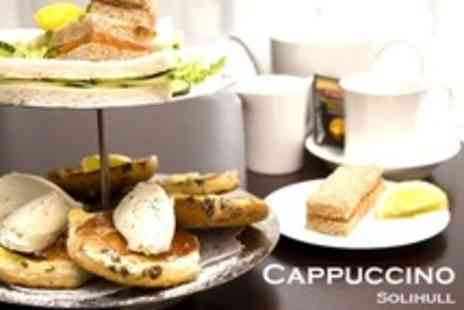 Cappuccino Solihull - Festive Afternoon Tea For One - Save 62%