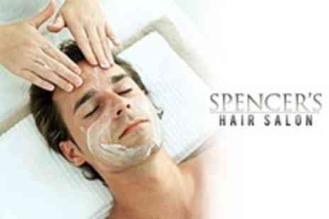 Spencers Hair Salon - Mens Close Shave With Face Mask and Massage - Save 63%