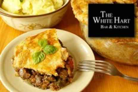 The White Hart - Two Course Pie Supper For Two - Save 50%