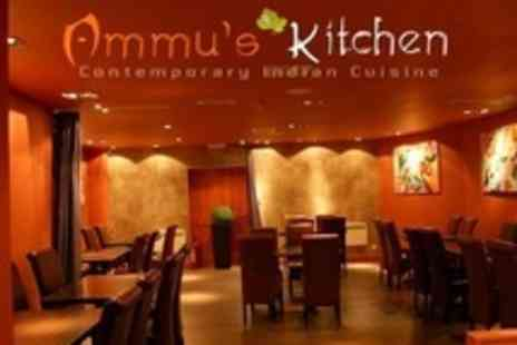 Ammus Kitchen - Two Course Indian Meal With Glass of Wine Each For Two - Save 36%