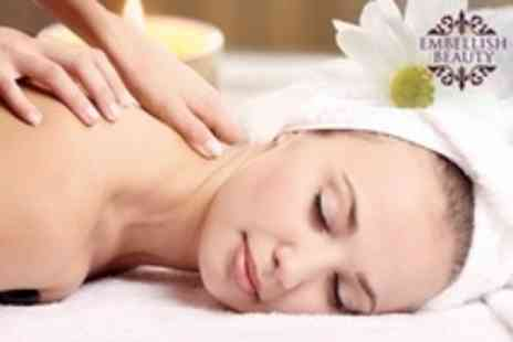 Embellish Beauty - Back Massage With Essential Facial - Save 75%
