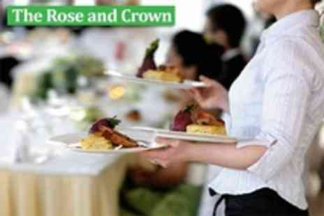 The Rose and Crown - Two Course Pub Meal With Wine For Two - Save 55%