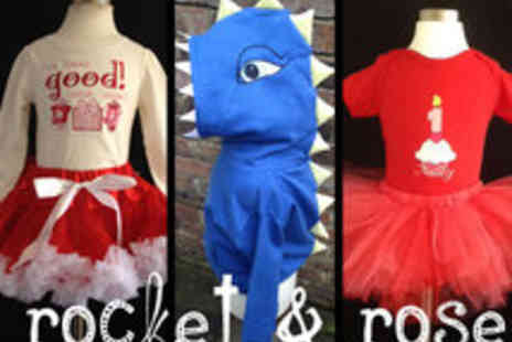 Rocket & Rose - Spend on Customised Sweatshirt, Shirts, Tutus and Bedding - Save 40%