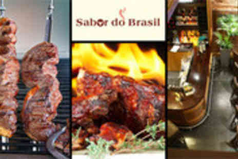 Sabor do Brasil - Brazilian Rodizio feast for two including wine - Save 46%