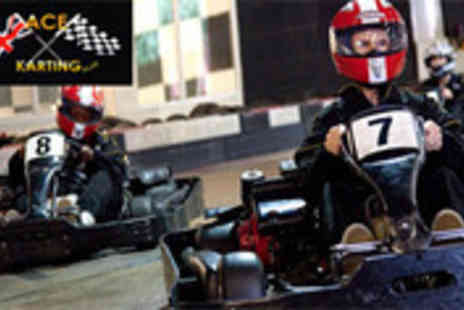 Ace Karting Plus - 60 laps of indoor go karting - Save 54%