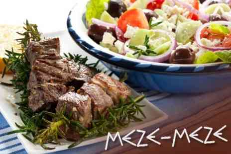 Meze Meze Restaurant - Three Course Set Menu Meze Meal For Two - Save 60%