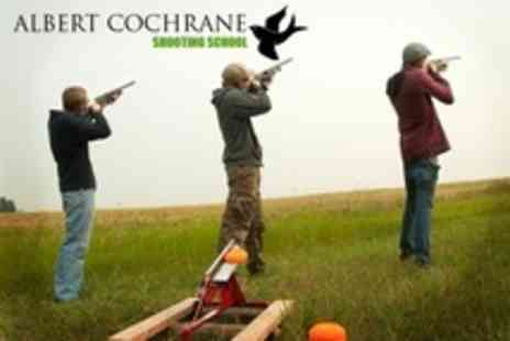 Albert Cochrane Shooting School - Clay Pigeon Shooting For Two With Eighty Clays - Save 34%