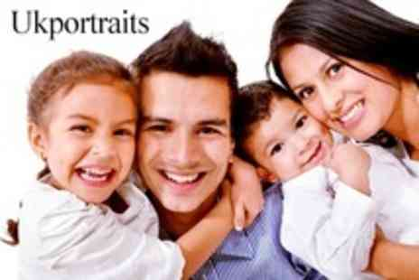 UKportraits - Group Photoshoot Studio Session For Up to 15 People With 20 x 16 Canvas Wrap - Save 93%