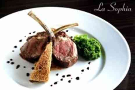 La Sophia - French Fine Dining Three Courses For Two - Save 56%