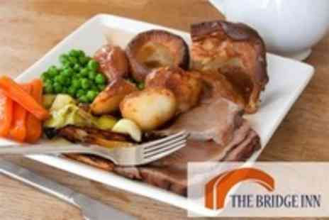 The Bridge Inn - Three Course Sunday Lunch For Two - Save 58%
