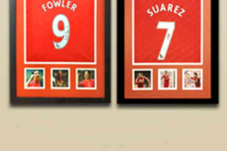 All Star Signings - Framed Signed Luis Suarez or Robbie Fowler Shirt - Save 50%
