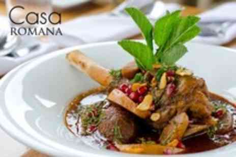 Casa Romana - Two Course Italian Meal With Wine For Two - Save 61%