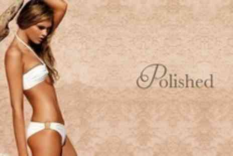 Polished - IPL Hair Removal Three Sessions on Areas Such as Underarms, Half Leg, or Hollywood Bikini - Save 75%