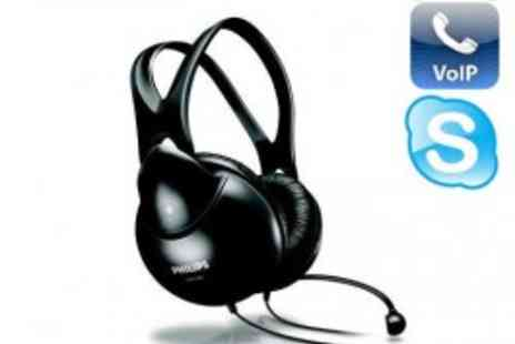 Philips - Amazing Philips VOIP Microphone Headphones - Great for Gaming and Skype - Save 75%