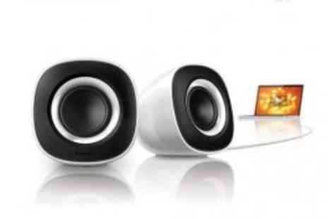 Philips - Retro Look Trendy Philips Multi-Media Speakers - Superb Sound! USB Powered! - Save 56%