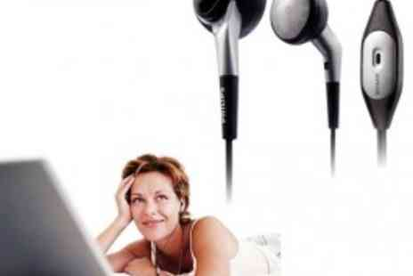 Philips - in Ear Headphones with Microphone - Clear Chat Everytime! Ideal for Notebook! - Save 50%