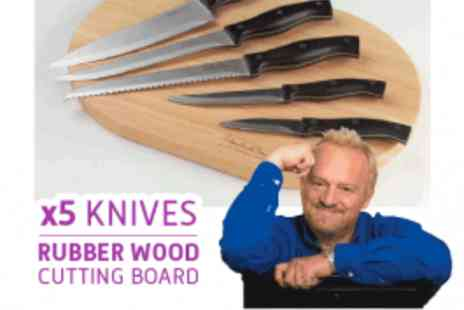 Antony Worrall Thompson - Knife set + FREE Wood Chopping Board - Save 50%