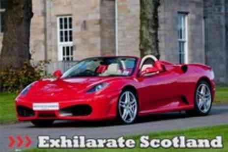 Exhilarate Scotland - Supercar Driving with Ferrari, Lamborghini and Aston Martin Options Plus Hot Laps - Save 76%