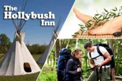 Hollybush Inn - Two Night Tipi Stay For Two  With High Tea - Save 57%