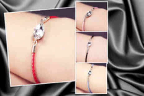 Oodlebee - Swarovski crystal friendship bracelet in a choice of 4 colours - Save 74%