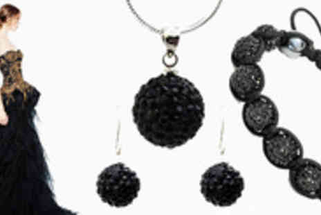 Trending Picks - Stay on-trend & on the ball for with this gorgeous noir Shamballa set - Save 92%