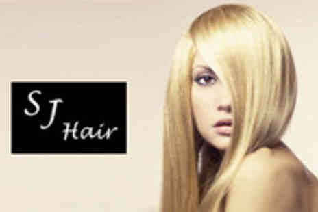S J Hair & Beauty - Full Head of Colour or T bar Section of Foils with Cut and Finish - Save 50%