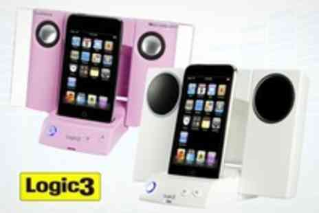 Logic3 - iPod Stereo Speaker Dock iStation 3 - Save 63%