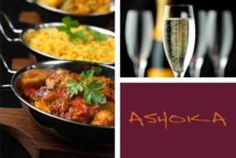 Ashoka - Festive Feast Five Course Indian Meal With Champagne For Two - Save 53%