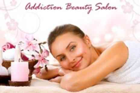 Addiction Beauty Salon - Pamper Package including Luxury Manicure or Pedicure With Massage or Facial - Save 60%