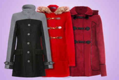 Evie Belle - Choice of three styles of winter coat including hooded duffle, fur trim and block colour - Save 50%