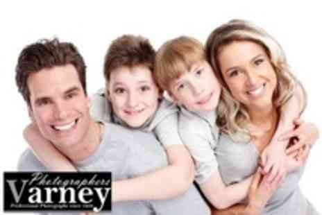 Varney Photographers - Family Photoshoot With 8x6 Framed Print and Digital Image - Save 86%