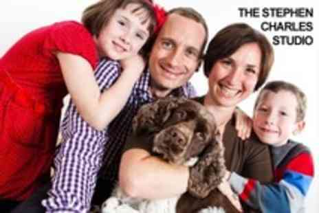 The Stephen Charles Studio - Family Photoshoot With Print and Three Images on Disc - Save 24%