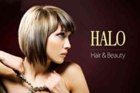 Halo Hair and Beauty - Half Head of Foil Highlights or Full Head of Colour Plus Cut and Blow Dry - Save 66%