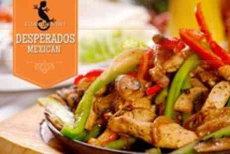 Desperados - Two Course Mexican Meal For Two With Wine - Save 52%
