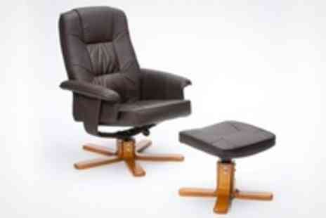Grampian Furnishers - Recliner Chair With Footstool - Save 50%